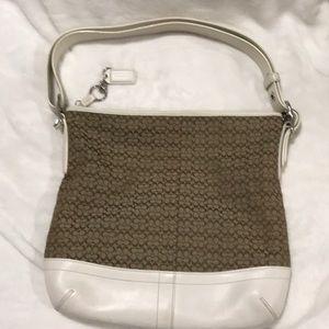 Coach shoulder bag with adjustable strap